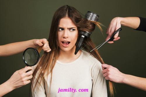 علاج الشعر التالف والمتقصف بالطرق الطبيعية والطبية جميلتي